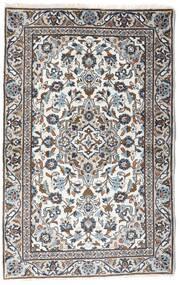 Kashan Covor 90X140 Orientale Lucrat Manual Gri Deschis/Bej-Crem (Lână, Persia/Iran)