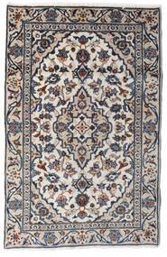 Kashan Covor 90X140 Orientale Lucrat Manual Gri Deschis/Gri Închis (Lână, Persia/Iran)