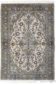Kashan Covor 98X140 Orientale Lucrat Manual Gri Deschis/Gri Închis (Lână, Persia/Iran)