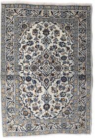 Kashan Covor 100X140 Orientale Lucrat Manual Gri Deschis/Gri Închis (Lână, Persia/Iran)