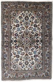 Kashan Covor 94X145 Orientale Lucrat Manual Gri Deschis/Negru (Lână, Persia/Iran)