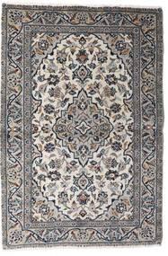 Kashan Covor 98X145 Orientale Lucrat Manual Gri Deschis/Gri Închis (Lână, Persia/Iran)