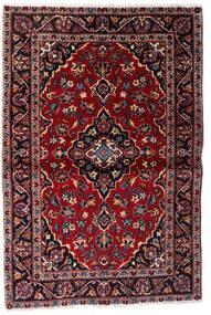 Kashan Covor 101X150 Orientale Lucrat Manual Roșu-Închis (Lână, Persia/Iran)
