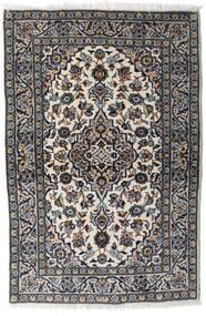 Kashan Covor 94X148 Orientale Lucrat Manual Gri Deschis/Negru (Lână, Persia/Iran)