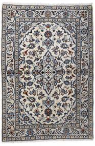 Kashan Covor 98X147 Orientale Lucrat Manual Gri Deschis/Gri Închis (Lână, Persia/Iran)