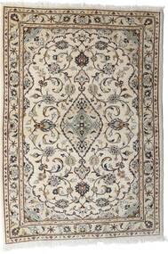 Kashan Covor 103X144 Orientale Lucrat Manual Gri Deschis/Bej (Lână, Persia/Iran)