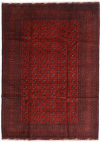 Afghan Covor 205X284 Orientale Lucrat Manual Roșu-Închis/Maro Închis (Lână, Afganistan)