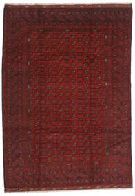 Afghan Covor 206X289 Orientale Lucrat Manual Roșu-Închis/Maro Închis (Lână, Afganistan)