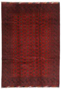 Afghan Covor 202X283 Orientale Lucrat Manual Roșu-Închis/Maro Închis (Lână, Afganistan)