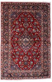 Kashan Covor 97X150 Orientale Lucrat Manual Roșu-Închis (Lână, Persia/Iran)