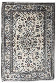 Kashan Covor 100X145 Orientale Lucrat Manual Gri Deschis/Negru (Lână, Persia/Iran)