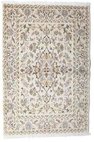 Kashan Covor 100X148 Orientale Lucrat Manual Gri Deschis/Bej (Lână, Persia/Iran)