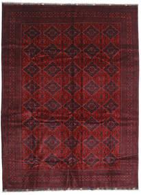 Kunduz Covor 293X395 Orientale Lucrat Manual Roșu-Închis/Maro Închis Mare (Lână, Afganistan)