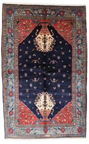 Gabbeh Kashkooli Covor 155X246 Modern Lucrat Manual Mov Închis/Negru (Lână, Persia/Iran)