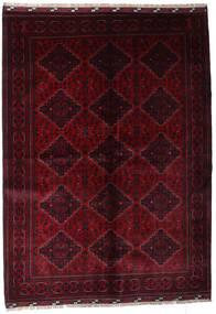 Kunduz Covor 171X237 Orientale Lucrat Manual Roșu-Închis (Lână, Afganistan)
