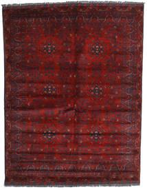 Kunduz Covor 158X202 Orientale Lucrat Manual Roșu-Închis (Lână, Afganistan)