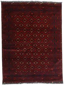 Kunduz Covor 147X192 Orientale Lucrat Manual Roșu-Închis (Lână, Afganistan)