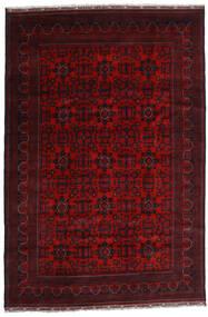 Kunduz Covor 195X293 Orientale Lucrat Manual Roșu-Închis (Lână, Afganistan)