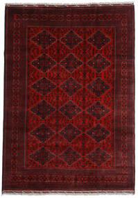Kunduz Covor 200X284 Orientale Lucrat Manual Roșu-Închis (Lână, Afganistan)