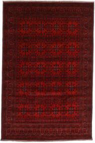 Kunduz Covor 196X298 Orientale Lucrat Manual Roșu-Închis/Maro Închis (Lână, Afganistan)