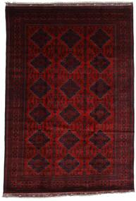 Kunduz Covor 199X291 Orientale Lucrat Manual Roșu-Închis (Lână, Afganistan)