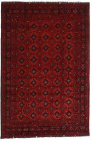 Kunduz Covor 195X295 Orientale Lucrat Manual Roșu-Închis/Roşu (Lână, Afganistan)