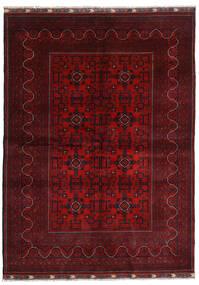 Kunduz Covor 169X232 Orientale Lucrat Manual Roșu-Închis/Roşu (Lână, Afganistan)