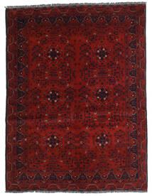 Kunduz Covor 146X194 Orientale Lucrat Manual Roșu-Închis (Lână, Afganistan)