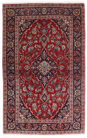 Kashan Covor 98X158 Orientale Lucrat Manual Roșu-Închis/Albastru Închis (Lână, Persia/Iran)