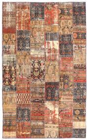 Patchwork - Persien/Iran Covor 191X312 Modern Lucrat Manual Roșu-Închis/Maro (Lână, Persia/Iran)