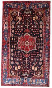 Nahavand Covor 142X257 Orientale Lucrat Manual Roșu-Închis/Negru (Lână, Persia/Iran)