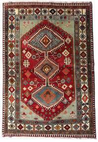 Ghashghai Covor 136X197 Orientale Lucrat Manual Roșu-Închis/Gri Închis (Lână, Persia/Iran)