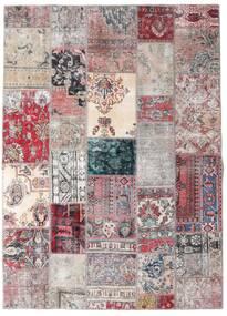 Patchwork - Persien/Iran Covor 173X242 Modern Lucrat Manual Gri Deschis/Roşu Închis (Lână, Persia/Iran)
