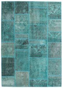 Patchwork - Persien/Iran Covor 140X200 Modern Lucrat Manual Albastru Turcoaz/Albastru Turcoaz (Lână, Persia/Iran)