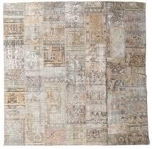 Patchwork - Persien/Iran Covor 250X253 Modern Lucrat Manual Pătrat Gri Deschis Mare (Lână, Persia/Iran)