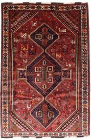 Shiraz Covor 166X246 Orientale Lucrat Manual Roșu-Închis/Ruginiu (Lână, Persia/Iran)