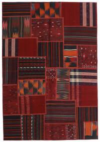 Tekkeh Chilim Covor 138X201 Modern Lucrate De Mână Roșu-Închis (Lână, Persia/Iran)