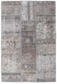 Patchwork - Persien/Iran Covor 105X159 Modern Lucrat Manual Gri Deschis/Gri Închis (Lână, Persia/Iran)