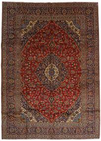 Kashan Covor 303X420 Orientale Lucrat Manual Maro Închis/Roșu-Închis Mare (Lână, Persia/Iran)