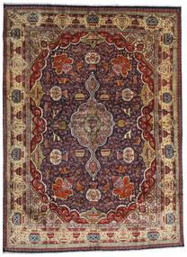 Kashmar Covor 294X396 Orientale Lucrat Manual Roșu-Închis/Maro Închis/Maro Deschis Mare (Lână, Persia/Iran)
