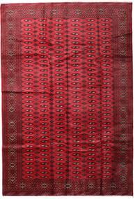 Turkaman Covor 197X285 Orientale Lucrat Manual Roșu-Închis/Roşu (Lână, Persia/Iran)