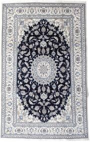 Nain Covor 197X313 Orientale Lucrat Manual Gri Deschis/Negru (Lână, Persia/Iran)