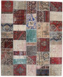 Patchwork - Persien/Iran Covor 200X246 Modern Lucrat Manual Gri Deschis/Roșu-Închis (Lână, Persia/Iran)