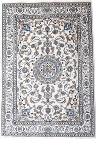 Nain Covor 198X290 Orientale Lucrat Manual Bej/Gri Închis/Bej-Crem (Lână, Persia/Iran)