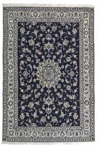 Nain Covor 164X242 Orientale Lucrat Manual Negru/Gri Deschis (Lână, Persia/Iran)