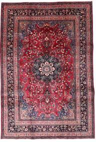Mashhad Covor 200X291 Orientale Lucrat Manual Roșu-Închis/Maro Închis (Lână, Persia/Iran)