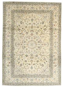 Kashan Covor 241X342 Orientale Lucrat Manual Bej/Bej Închis (Lână, Persia/Iran)