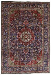 Tabriz Covor 210X304 Orientale Lucrat Manual Gri Închis/Albastru Închis (Lână, Persia/Iran)