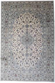 Kashan Covor 246X366 Orientale Lucrat Manual Gri Deschis/Bej-Crem (Lână, Persia/Iran)