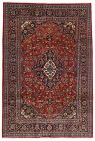 Mashhad Covor 200X292 Orientale Lucrat Manual Roșu-Închis/Negru (Lână, Persia/Iran)